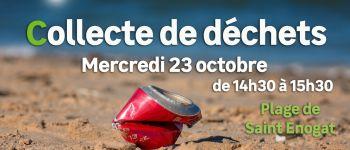 Collecte de déchets - plage de Saint Enogat Dinard