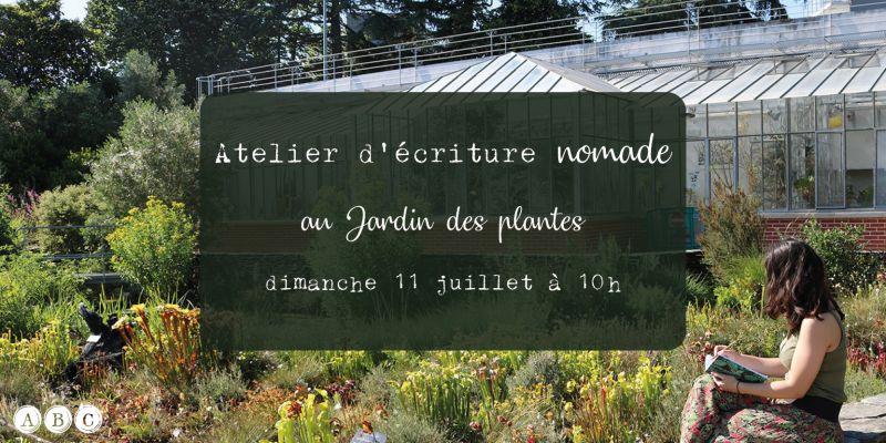 Atelier décriture nomade au jardin des plantes