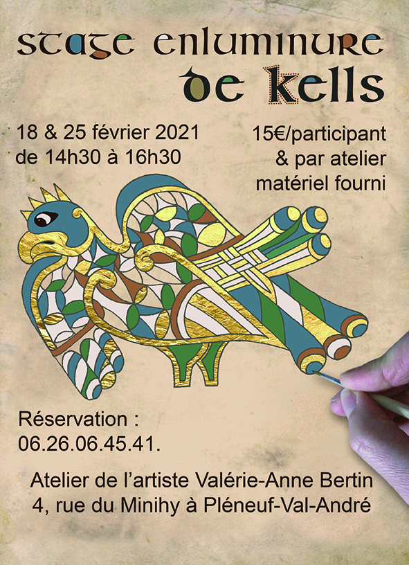 Image Stage enluminure de Kells